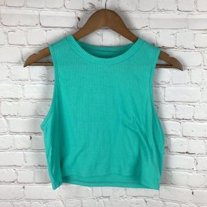 Shein Teal Cropped Tank Top